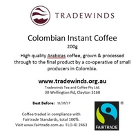 Columbian Fairtrade Instant Coffee