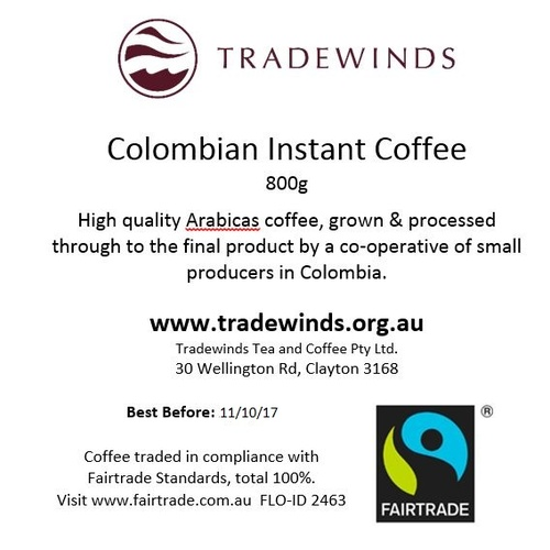 Colombian Fairtrade Instant Coffee